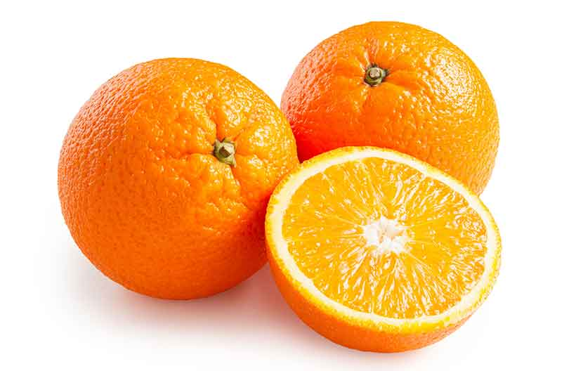 Whole Orange and Orange Halves.