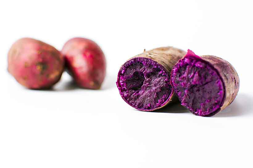 Picture of Purple Sweet Potatoes Aka the Japanese Okinawan Yam.
