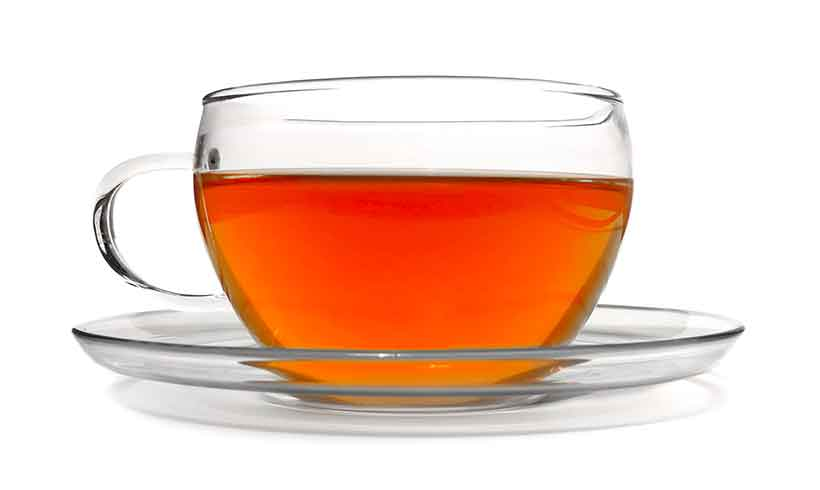 A Glass Cup of Rooibos Tea.