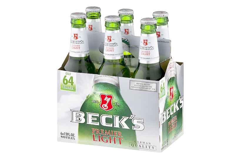 A 6-Pack of Becks Premier Light Beer.