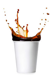 A Cup of Hot Black Coffee In a Paper Cup.