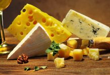 Different Types of Cheese On a Cheese Platter.
