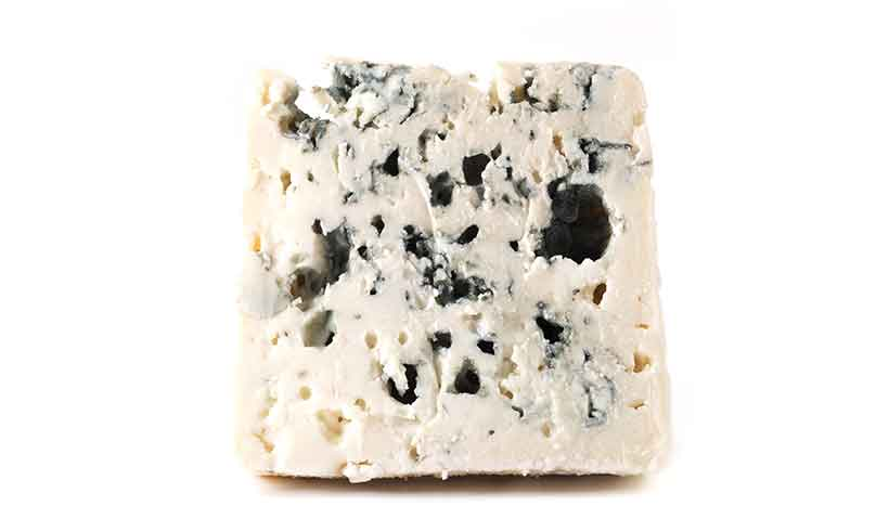 French Blue and Crumbly Roquefort Cheese.