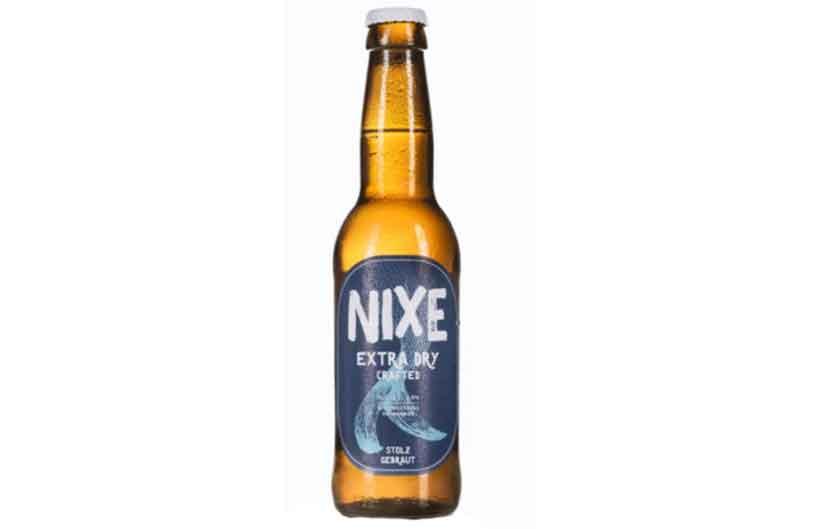 355 ml Bottle of NIXE Extra Dry Beer.