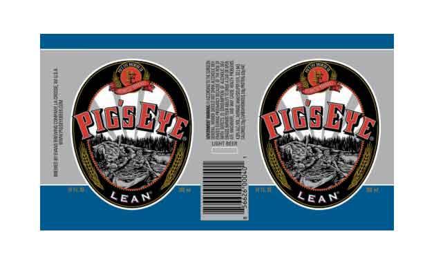Packaging Design For Pigs Eye Lean Light Beer.