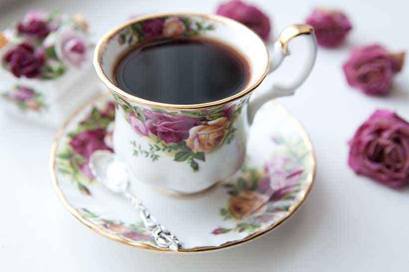 A Cup of Black Tea.