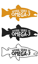 Pictures of Various Fish Sketches With 'Omega-3' Writing.
