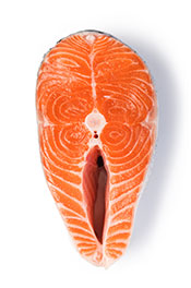 A Raw Salmon Steak.