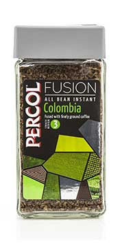Picture of a Jar of Percol Fusion Instant Coffee Jar.