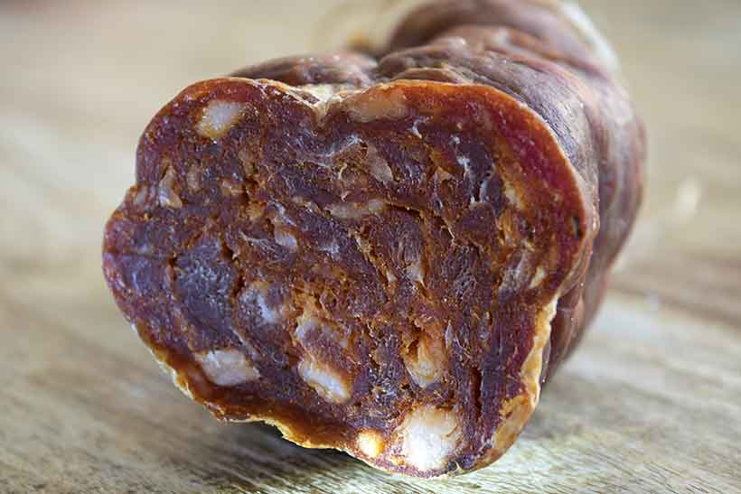 A Spicy Soppressata Cured Sausage.