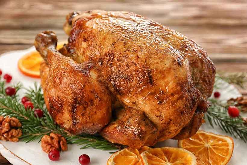A Roasted Turkey On a Plate.