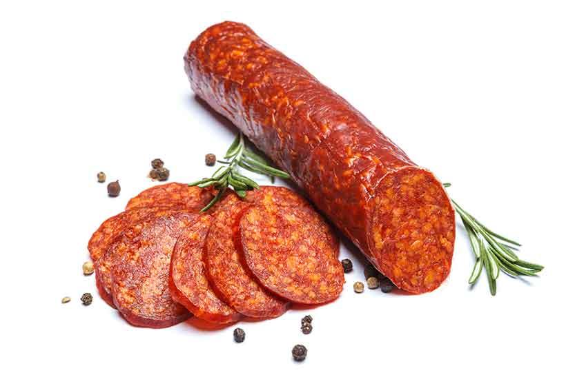Picture of Chorizo Sausage and Chorizo Slices.
