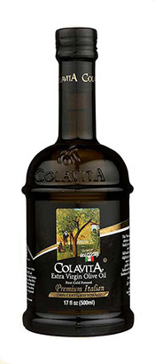 500ml Dark Glass Bottle of Colavita Extra Virgin Olive Oil.