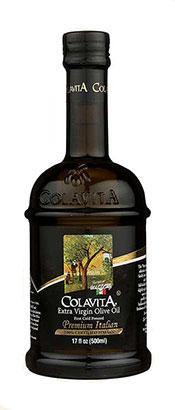 500ml Dark Glass Bottle of Colavita Extra Virgin Olive Oil.