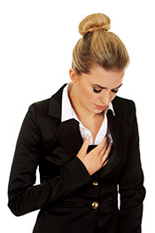 A Businesslady Feeling Uneasy After Experiencing Palpitations.