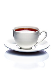 A Cup of Black Tea on a Saucer.