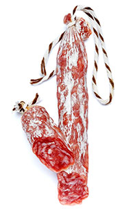 A Traditional Fermented Salami Sausage In Casing.
