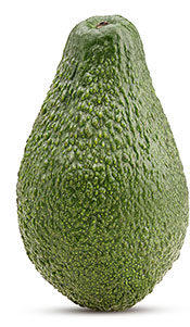 A Whole Avocado With Skin On.