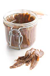 A Jar of Salted Anchovies.