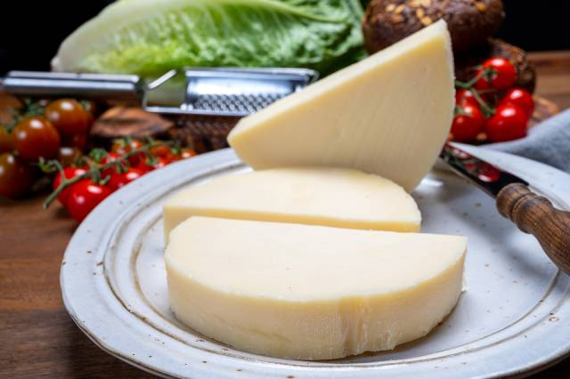 Large Pieces of Italian Provolone Cheese.