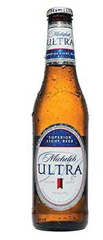 A Glass Bottle of Michelob Ultra Low-Carb Beer.