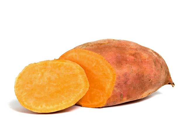 A Large Orange-Flesh Sweet Potato.