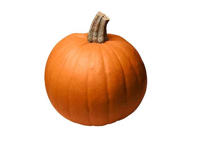 A Round Orange Pumpkin.