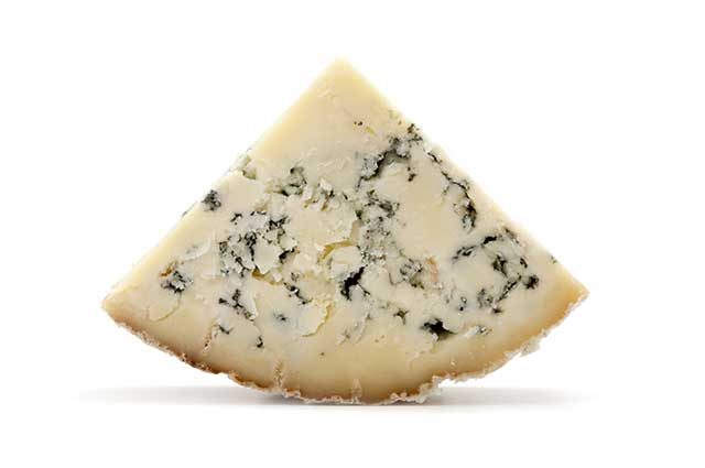 Triangle Shaped Portion of Blue Stilton Cheese.