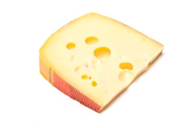 A Wedge of Jarlsberg Cheese.