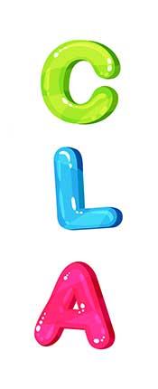 Letters Spelling CLA (Representing Conjugated Linoleic Acid).