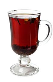 Black Tea In a Glass Cup.