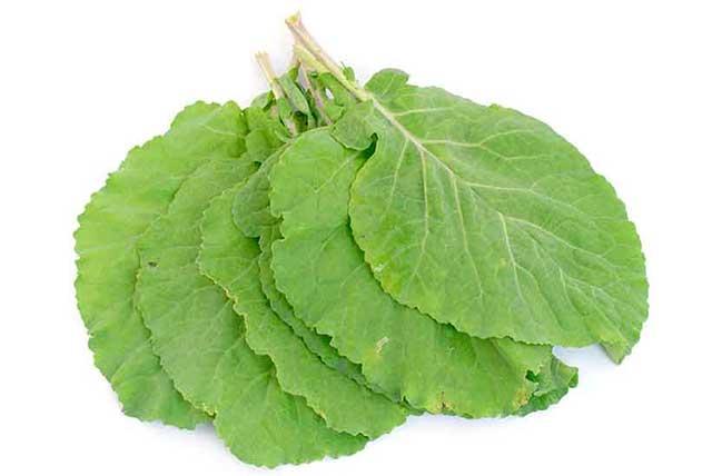 Fresh Collard Leafy Green Vegetables.
