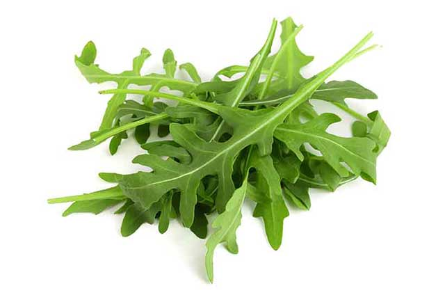 Fresh Green Arugula Leaves.