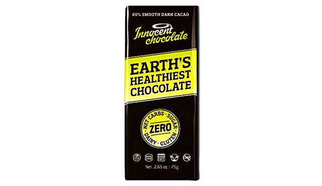 Innocent Zero Net Carbs Chocolate Wrapper.