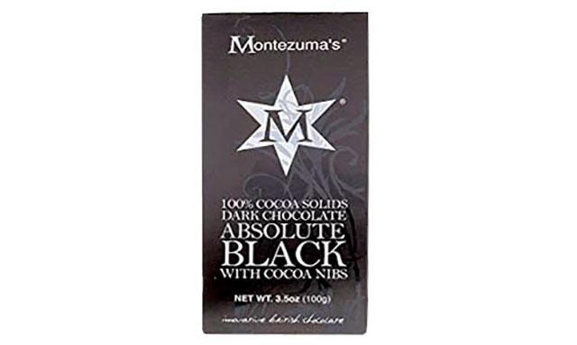 Montezuma Absolute Black Dark Chocolate.