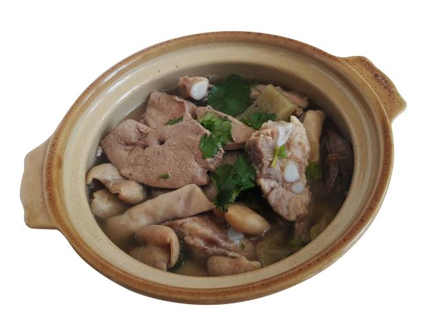 Pork Chitterlings (Intestines) In a Bowl.
