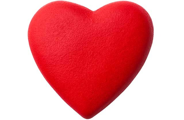 A Red Heart On a White Background.