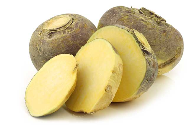 A Whole Rutabaga (Swede) With Some Large Slices.