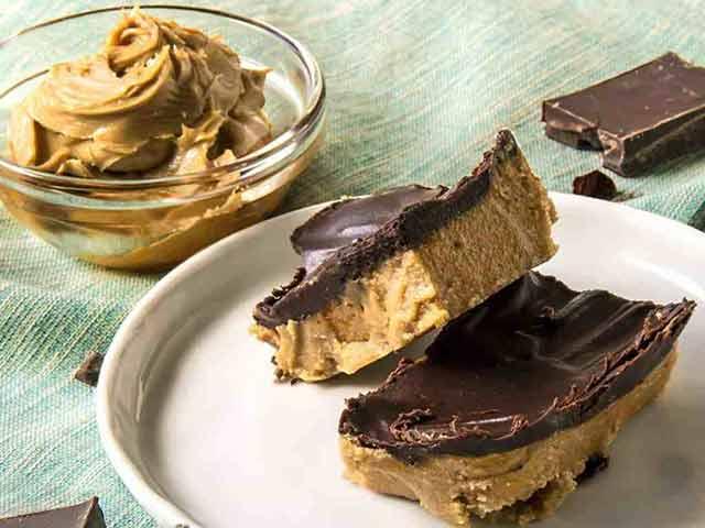 Sugar-Free Keto Peanut Butter Bars.