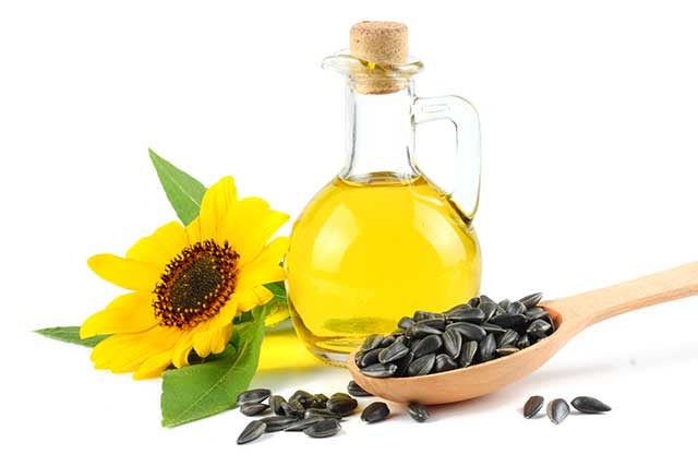 Sunflower Oil In a Glass Jar.