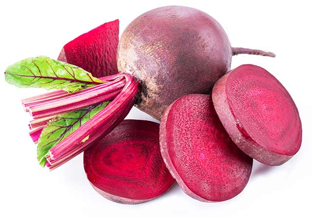 Whole Beets and Slices of Beetroot.