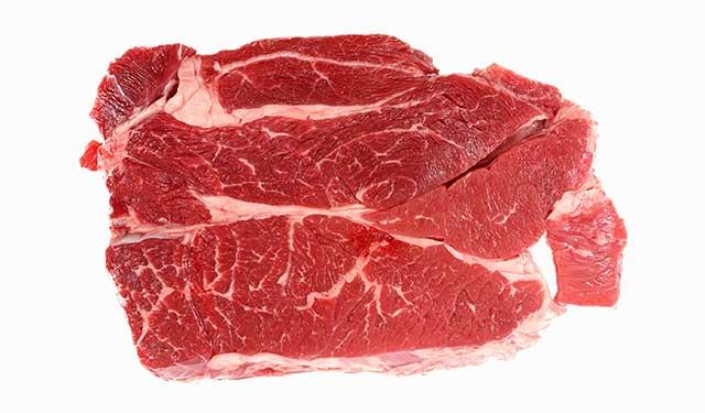 Raw Chuck Eye Steak.