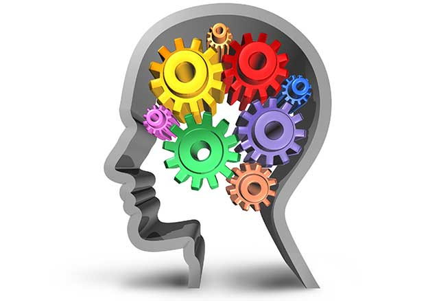 A Human Head Shape Containing Cogs - Cognitive Health Theme.