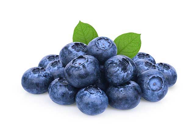 A Handful of Fresh Blueberries.