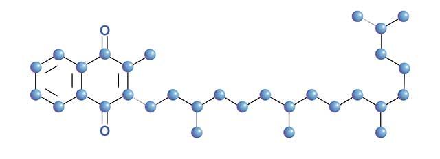 Molecular Structure For Vitamin K1 (Phylloquinone).