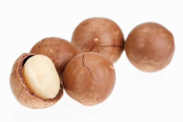 Shelled and Unshelled Macadamia Nuts.