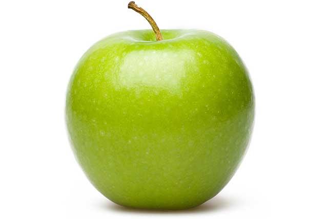 A Shiny Green Apple - Granny Smith Breed.
