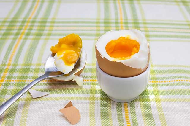 Soft Boiled Egg In An Eggcup.