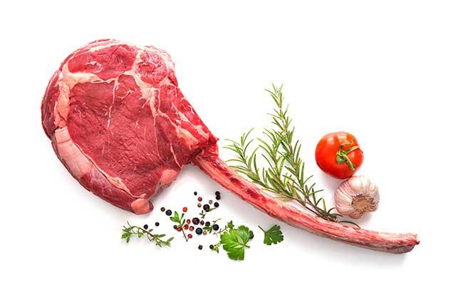 Tomahawk Steak With Large Bone-In Rib.