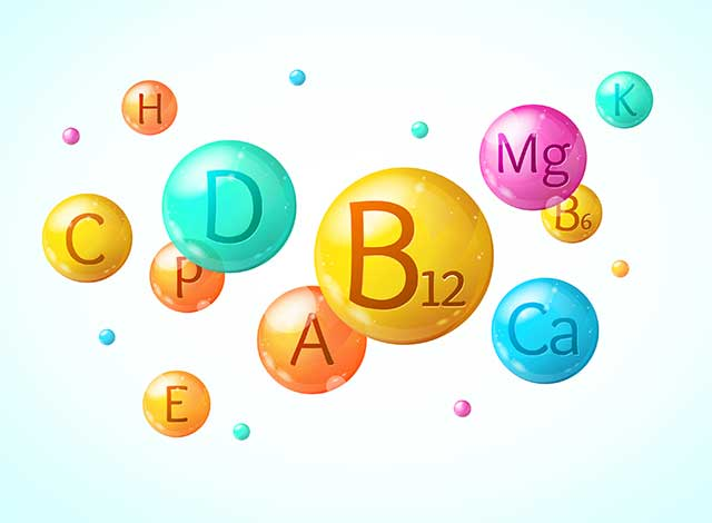 Bubbles Representing Vitamin and Minerals.